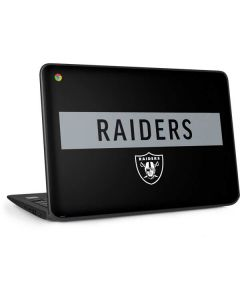 Las Vegas Raiders Black Performance Series HP Chromebook Skin