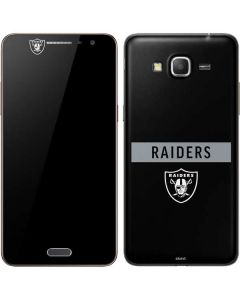 Las Vegas Raiders Black Performance Series Galaxy Grand Prime Skin