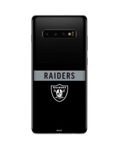 Las Vegas Raiders Black Performance Series Galaxy S10 Plus Skin