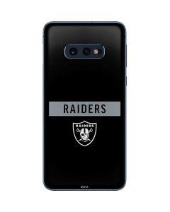 Las Vegas Raiders Black Performance Series Galaxy S10e Skin