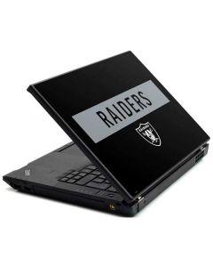 Las Vegas Raiders Black Performance Series Lenovo T420 Skin