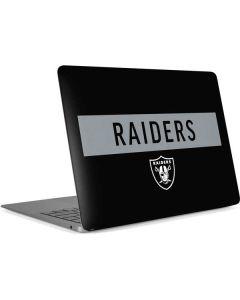 Las Vegas Raiders Black Performance Series Apple MacBook Air Skin