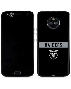 Las Vegas Raiders Black Performance Series Moto X4 Skin