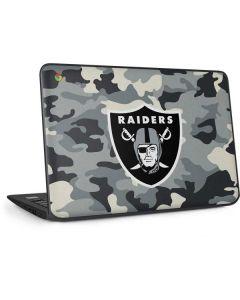 Las Vegas Raiders Camo HP Chromebook Skin