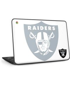 Las Vegas Raiders Double Vision HP Chromebook Skin