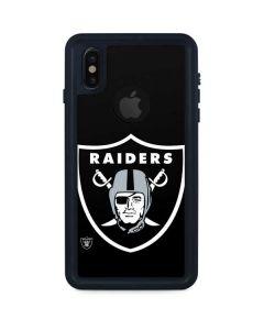Las Vegas Raiders Large Logo iPhone XS Waterproof Case