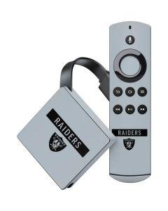 Las Vegas Raiders Silver Performance Series Amazon Fire TV Skin