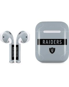 Oakland Raiders Silver Performance Series Apple AirPods Skin