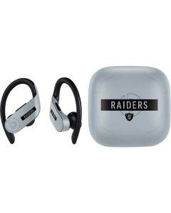 Las Vegas Raiders Silver Performance Series PowerBeats Pro Skin