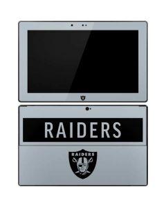 Las Vegas Raiders Silver Performance Series Surface RT Skin