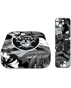 Las Vegas Raiders Tropical Print Apple TV Skin