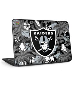 Las Vegas Raiders Tropical Print HP Chromebook Skin