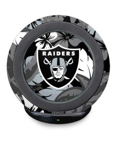 Las Vegas Raiders Tropical Print Fast Charge Wireless Charging Stand Skin