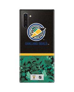 Oakland Seals Retro Tropical Print Galaxy Note 10 Skin