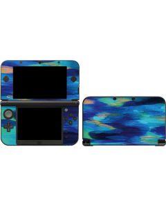 Ocean Blue Brush Stroke 3DS XL 2015 Skin