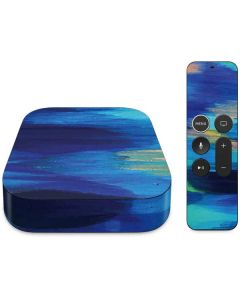 Ocean Blue Brush Stroke Apple TV Skin