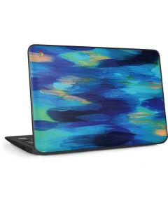 Ocean Blue Brush Stroke HP Chromebook Skin