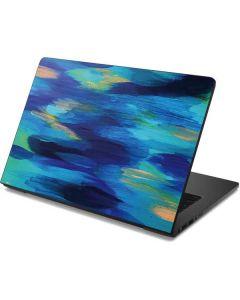 Ocean Blue Brush Stroke Dell Chromebook Skin