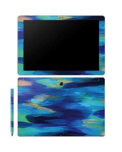Ocean Blue Brush Stroke Galaxy Book 12in Skin
