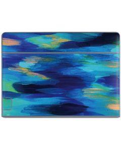 Ocean Blue Brush Stroke Galaxy Book Keyboard Folio 10.6in Skin
