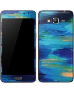 Ocean Blue Brush Stroke Galaxy Grand Prime Skin