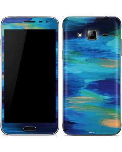 Ocean Blue Brush Stroke Galaxy J3 Skin