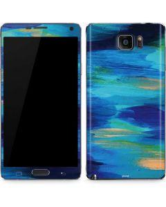 Ocean Blue Brush Stroke Galaxy Note5 Skin