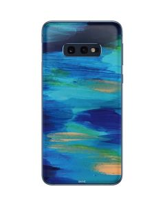 Ocean Blue Brush Stroke Galaxy S10e Skin
