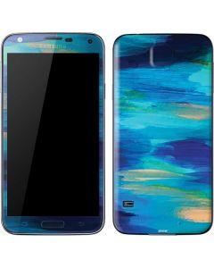 Ocean Blue Brush Stroke Galaxy S5 Skin