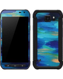 Ocean Blue Brush Stroke Galaxy S6 Active Skin