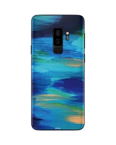 Ocean Blue Brush Stroke Galaxy S9 Plus Skin