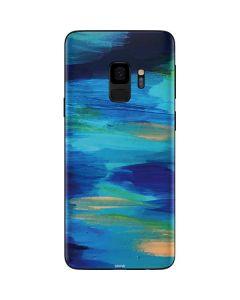 Ocean Blue Brush Stroke Galaxy S9 Skin