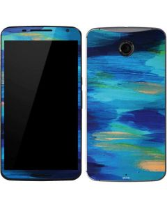 Ocean Blue Brush Stroke Google Nexus 6 Skin