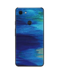 Ocean Blue Brush Stroke Google Pixel 3 XL Skin