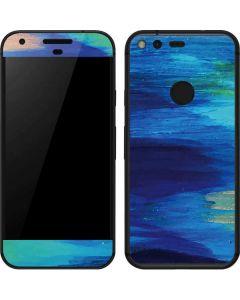 Ocean Blue Brush Stroke Google Pixel Skin