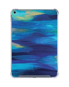 Ocean Blue Brush Stroke iPad 10.2in (2019-20) Clear Case