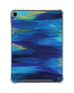 Ocean Blue Brush Stroke iPad Pro 11in (2018-19) Clear Case