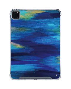 Ocean Blue Brush Stroke iPad Pro 11in (2020) Clear Case