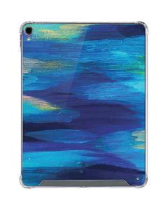 Ocean Blue Brush Stroke iPad Pro 12.9in (2018-19) Clear Case