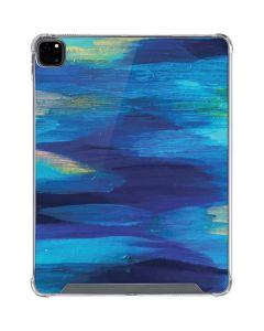 Ocean Blue Brush Stroke iPad Pro 12.9in (2020) Clear Case