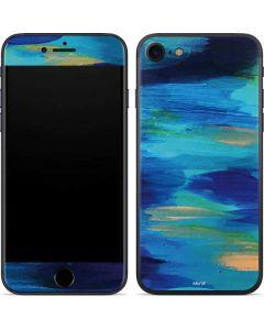 Ocean Blue Brush Stroke iPhone 7 Skin