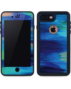 Ocean Blue Brush Stroke iPhone 8 Plus Waterproof Case