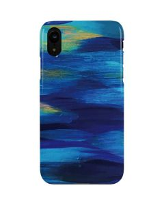 Ocean Blue Brush Stroke iPhone XR Lite Case