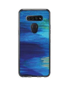 Ocean Blue Brush Stroke LG K51/Q51 Clear Case