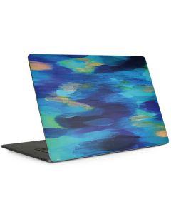Ocean Blue Brush Stroke Apple MacBook Pro 15-inch Skin