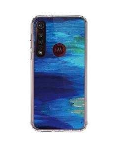 Ocean Blue Brush Stroke Moto G8 Plus Clear Case