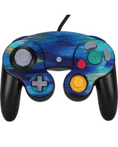 Ocean Blue Brush Stroke Nintendo GameCube Controller Skin