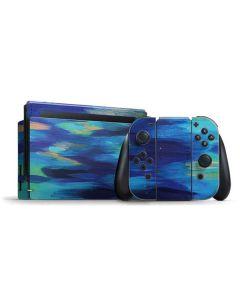 Ocean Blue Brush Stroke Nintendo Switch Bundle Skin