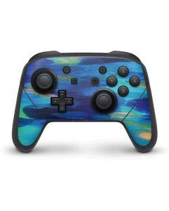 Ocean Blue Brush Stroke Nintendo Switch Pro Controller Skin