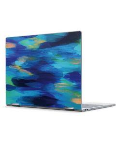 Ocean Blue Brush Stroke Pixelbook Skin